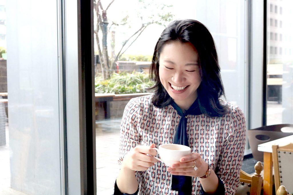 花田真寿美さんのインタビュー風景写真