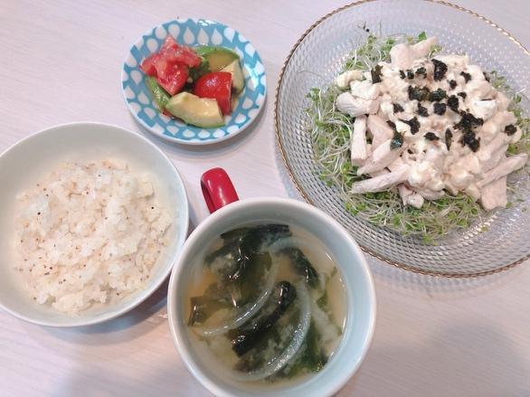 八反美咲さんの昼食メニューの写真