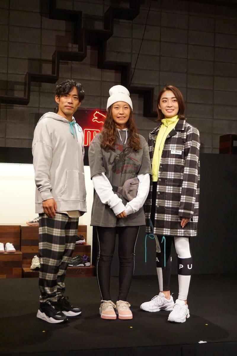 AW19 PUMA OPEN HOUSEに登場した高橋大輔選手や小山美姫選手、久良知美帆選手の画像