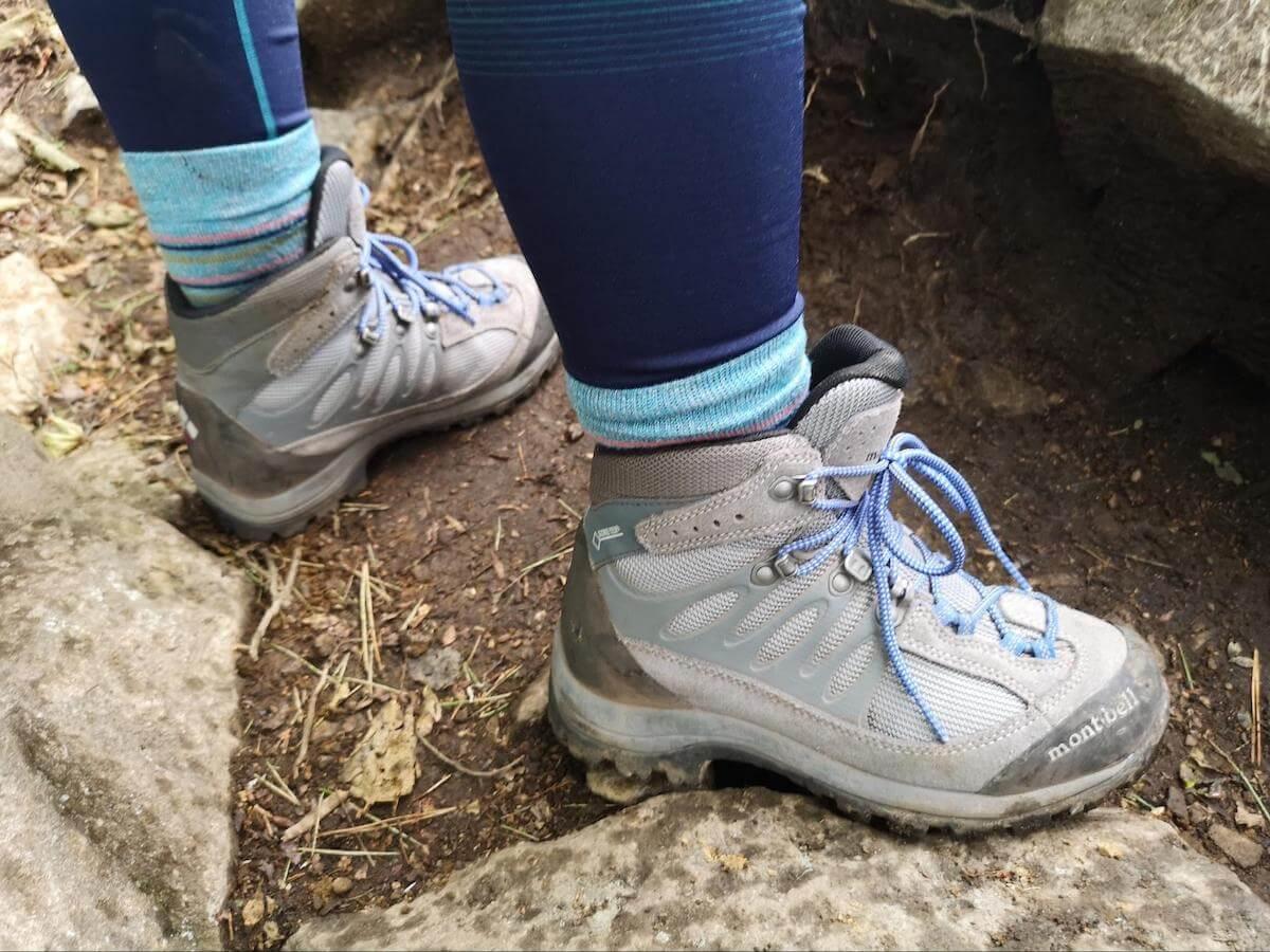 モンベルの登山靴の写真