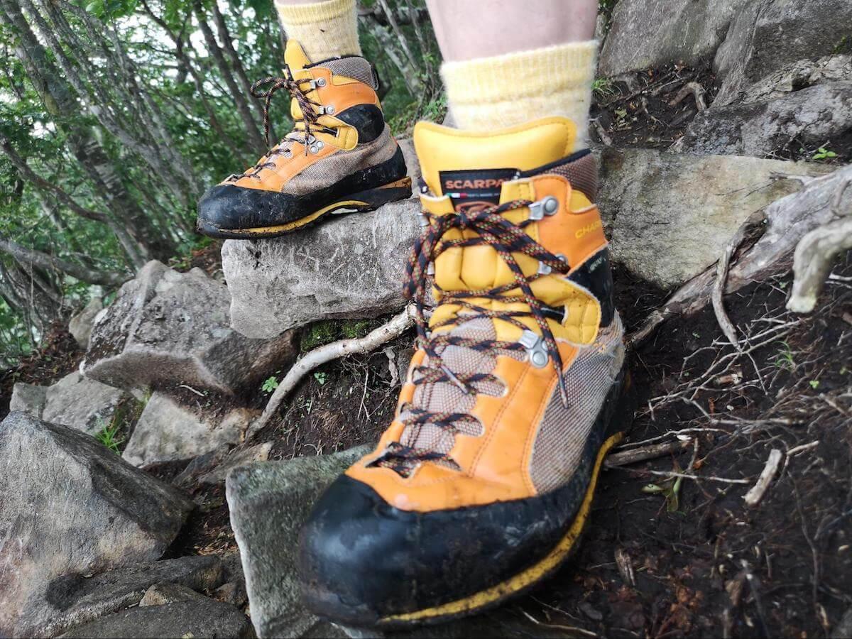 スカルパの登山靴の写真