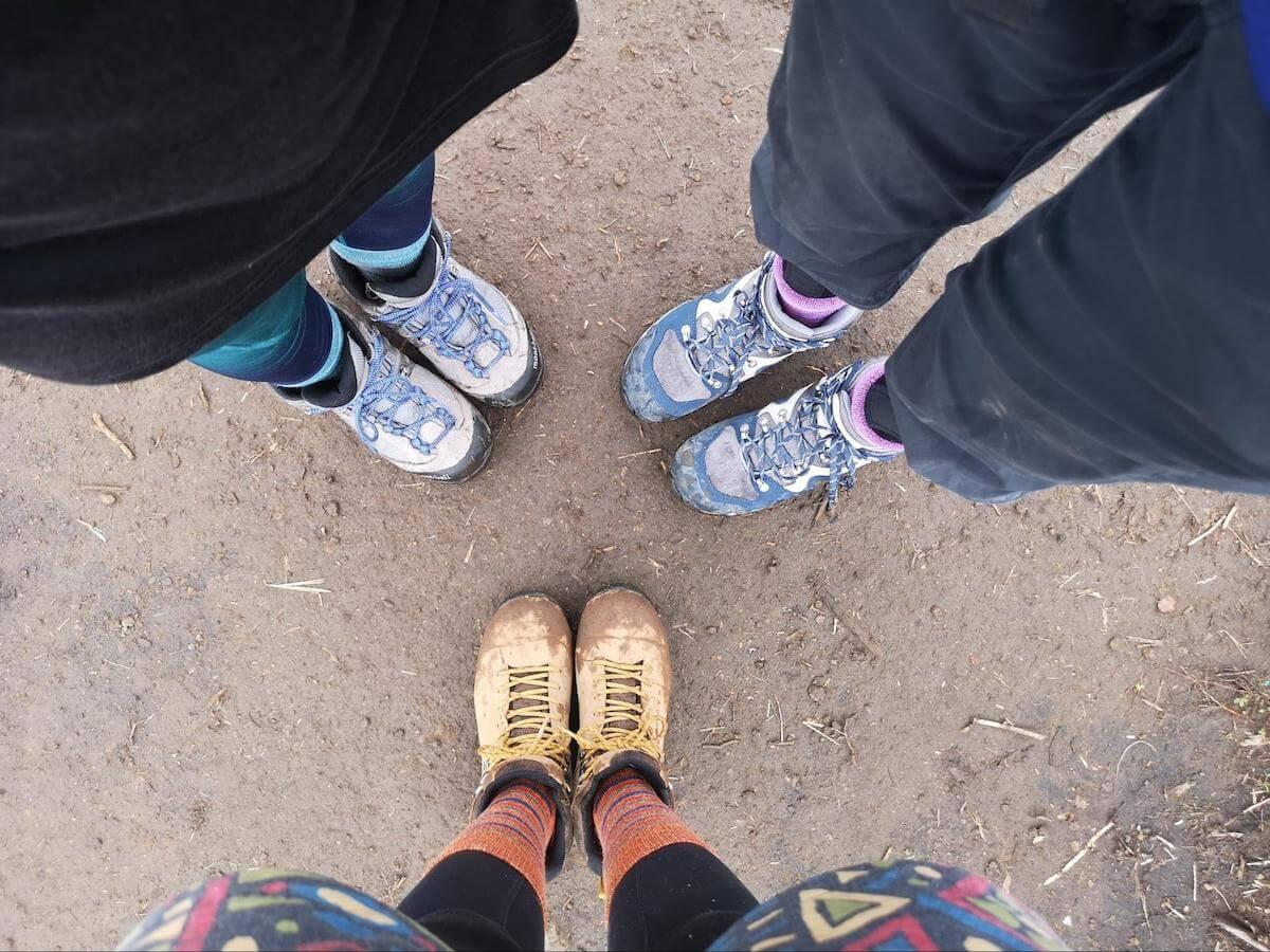 登山靴の写真
