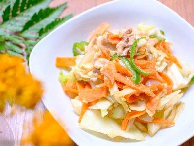 おから野菜炒めーさくっとトレご飯・おからパウダー編ー