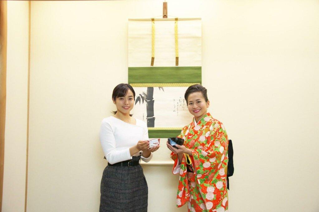 青木蘭さんと小堀宗翔さんの写真