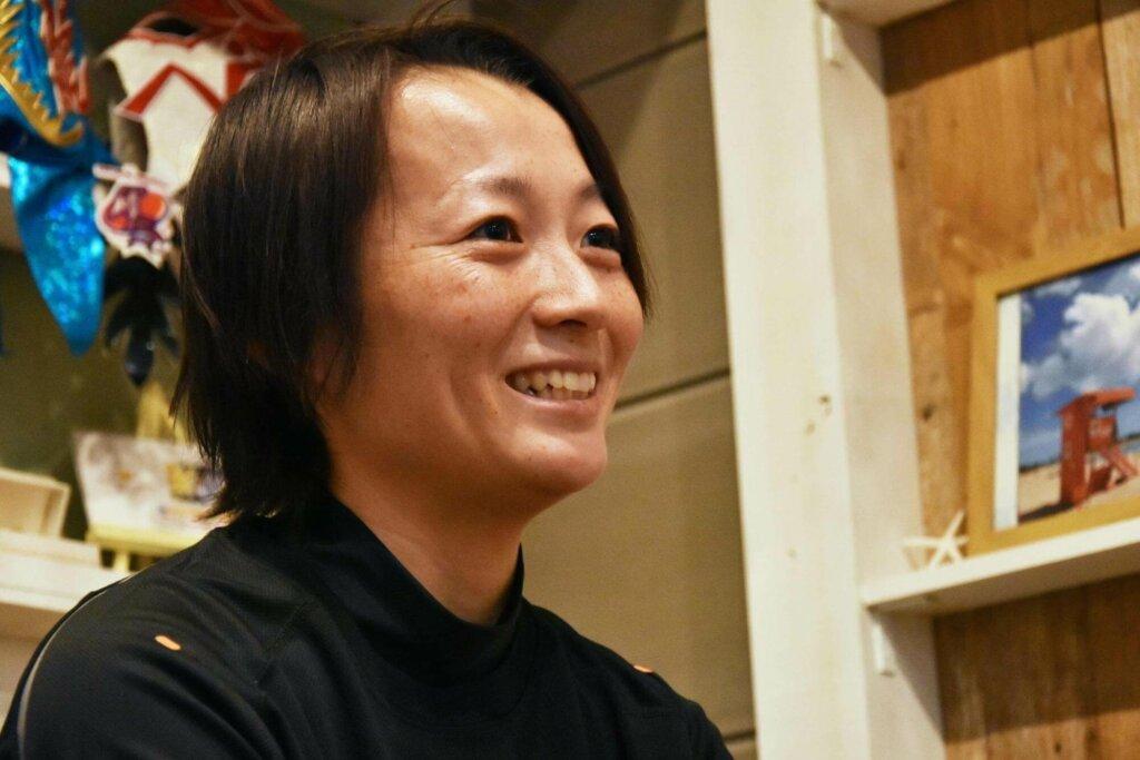山崎まり選手の写真