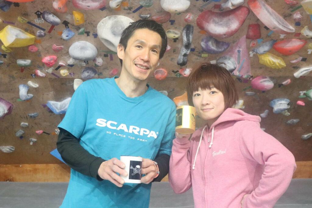 加島健至さんと加島智子選手の写真